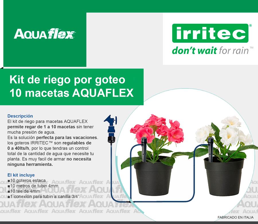 Aquaflex accesorios para el hogar y el jardin home and - Kit riego por goteo ...