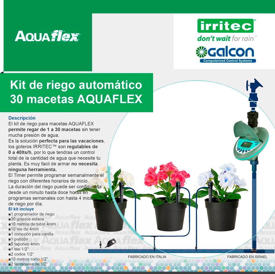 Aquaflex accesorios para el hogar y el jardin home and - Kit de riego automatico ...